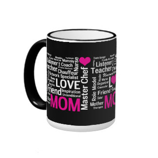 MOM is LOVE and so Much More! Ringer Mug