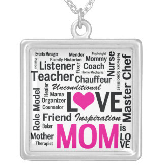 Mom is LOVE, Inspiration, and So Much More Necklace