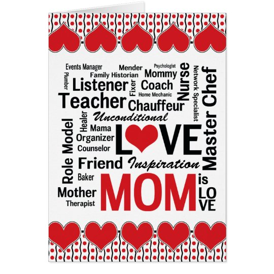 Mom is Love - Mother's Day for Multitalented Mom Card