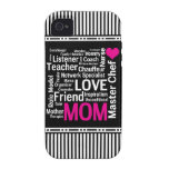 Mom is Love Mother's Day Gift for Do It All Mum iPhone 4 Case
