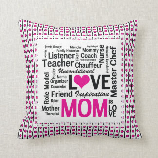 Mom is Love Mother's Day Gift for Do It All Mum Throw Pillow