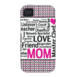 Mom is Love Mother's Day Gift Says it All Case-Mate iPhone 4 Cover