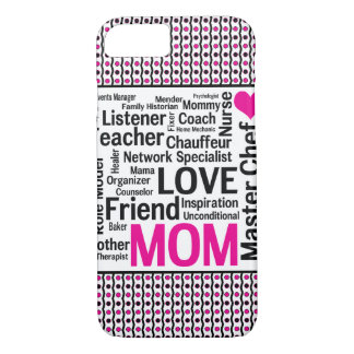Mom is Love Mother's Day Gift Says it All iPhone 8/7 Case