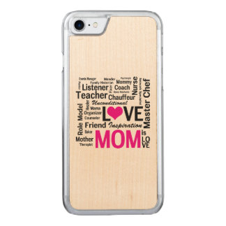 Mom is Love - Mother's Day or Mom's Birthday Carved iPhone 8/7 Case