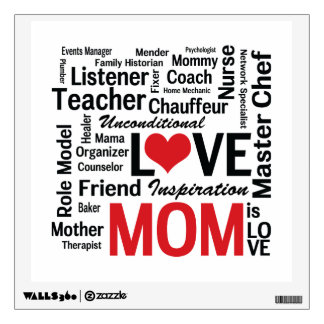 Mom is Love - Mother's Day or Mom's Birthday Wall Decal