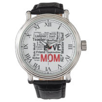 Mom is Love - Mother's Day or Mom's Birthday Wrist Watch