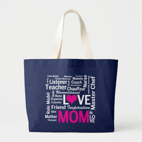 Mom is Love Mother's Day Shopping Bag