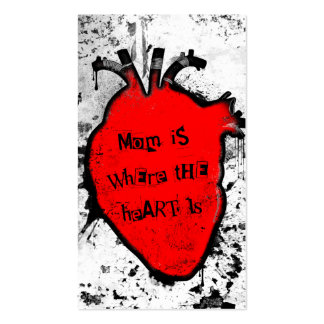 mom is where the anatomical heart is Double-Sided standard business cards (Pack of 100)