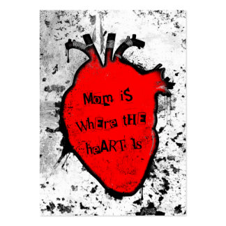 mom is where the anatomical heart is large business cards (Pack of 100)