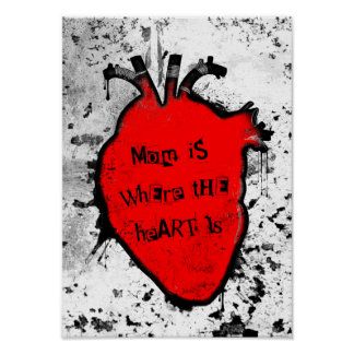 mom is where the anatomical heart is poster