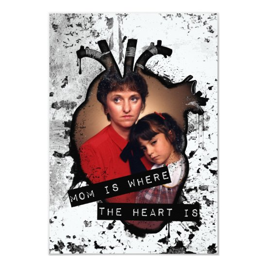 mom is where the heart is card