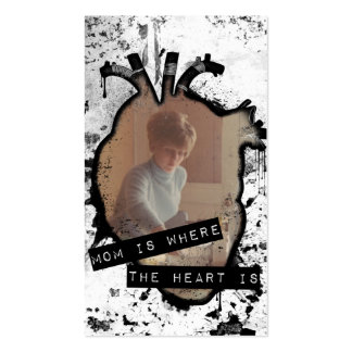 mom is where the heart is Double-Sided standard business cards (Pack of 100)
