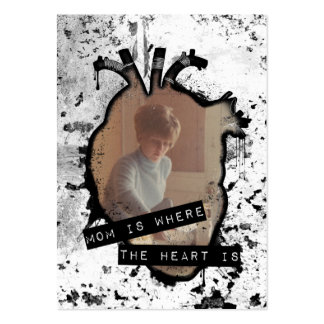 mom is where the heart is large business cards (Pack of 100)