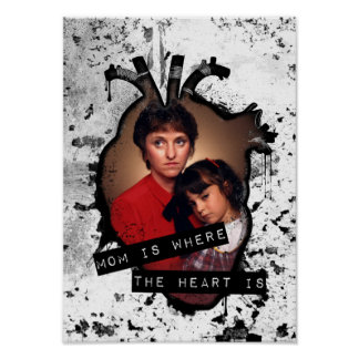 mom is where the heart is poster