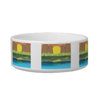 Mom Is Wow Water Reflection Mothers Day Cat Water Bowls