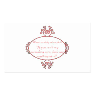 Mom-isms on t-shirts and gifts for moms. business card templates