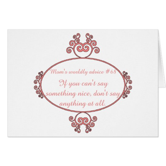 Mom-isms on t-shirts and gifts for moms. card