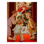 Mom Kisses Santa Claus Poster