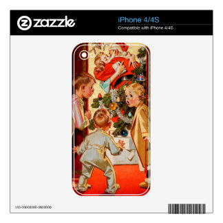 Mom Kisses Santa Claus Decal For The iPhone 4S
