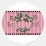 MOM Label Classic Round Sticker