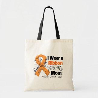 Mom - Leukemia Ribbon Canvas Bags
