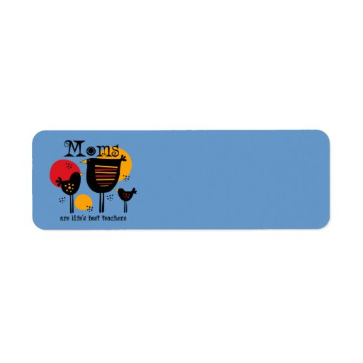 Mom Life's Best Teacher Label Return Address Label