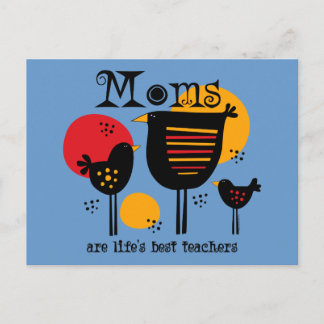 Mom Life's Best Teacher Postcard