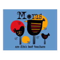 Mom Life's Best Teacher Postcard