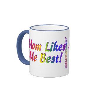 Mom Likes Me Best! Ringer Coffee Mug