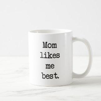 Mom Likes Me Best Products & Designs! Coffee Mug