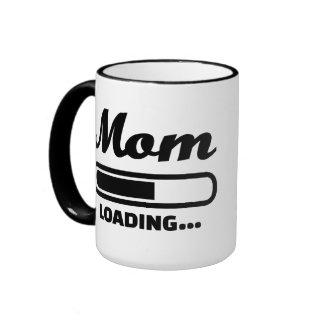 Mom loading pregnant ringer coffee mug