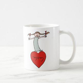 Mom Love Heart Coffee Mug