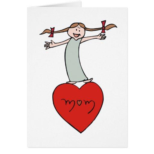 Mom Love Heart Greeting Card