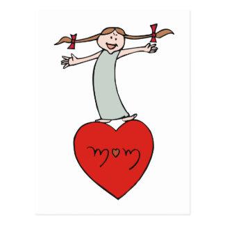 Mom Love Heart Postcard