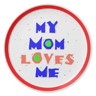 Mom Love Me Plate