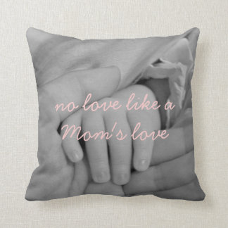 Mom Love Quote Throw Pillow