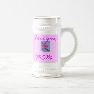 MOM,   Love you Stein Mug