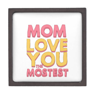 Mom, love you the mostest premium trinket boxes