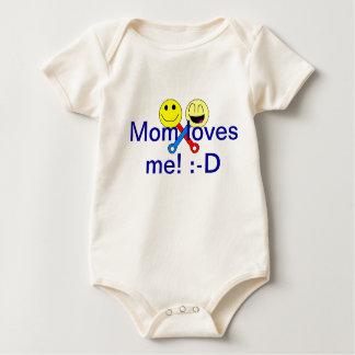 Mom Loves Me! Baby Bodysuit