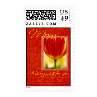 Mom Loving Wish for You Tulip Postage
