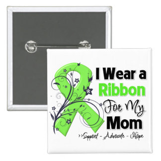 Mom - Lymphoma Ribbon Pinback Buttons