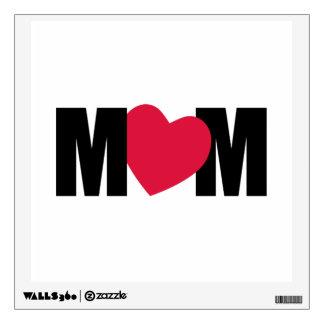 """MOM"" - M <3 M - Heart Design Room Decals"
