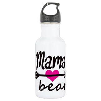 Mom Mama Bear Funny Quote by Mini Brothers Water Bottle