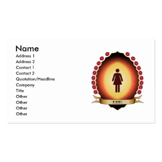 Mom Mandorla Double-Sided Standard Business Cards (Pack Of 100)