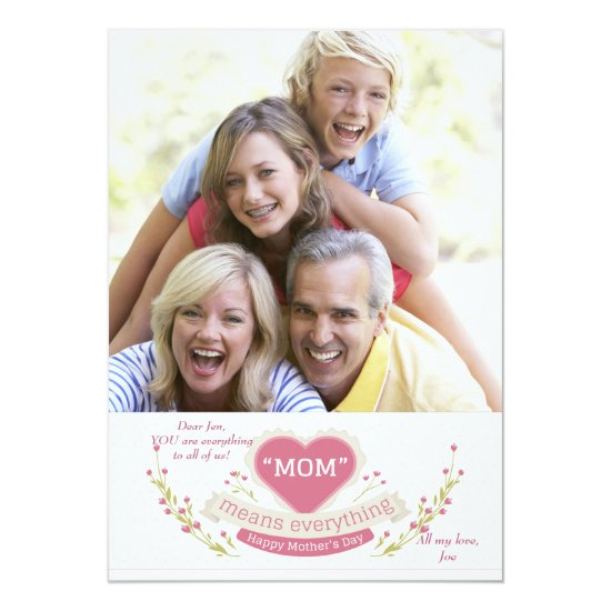 Mom Means Everything Photo Card