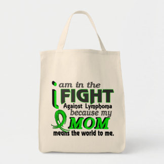 Mom Means The World To Me Lymphoma Grocery Tote Bag