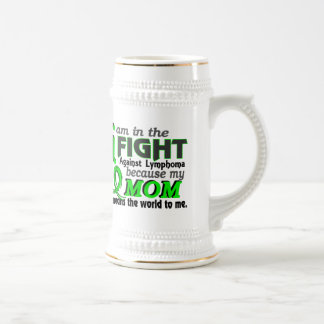 Mom Means The World To Me Lymphoma Beer Stein