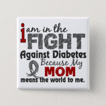 Mom Means World To Me Diabetes Button