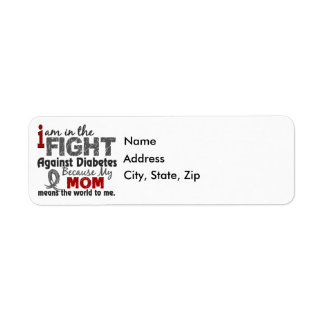 Mom Means World To Me Diabetes Label