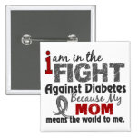 Mom Means World To Me Diabetes Pin